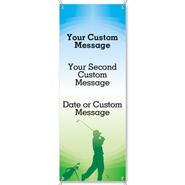 Tee to Green Vertical Banner