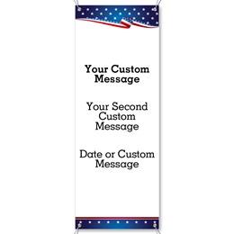 USA Proud Vertical Banner