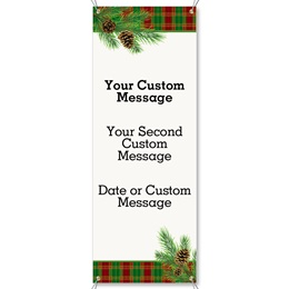 Traditional Plaid Vertical Banners