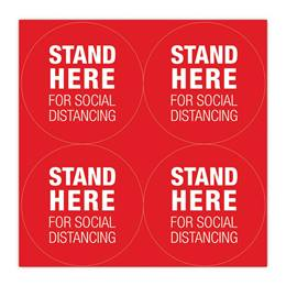 Stand Here Social Distancing Floor Circles