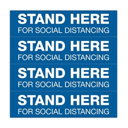 Stand Here Social Distancing Floor Strips