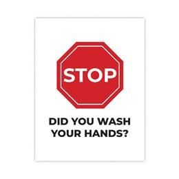 Stop. Did You Wash Your Hands? Wall Decal