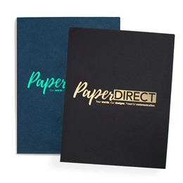 Custom Foil Logo Presentation Folders