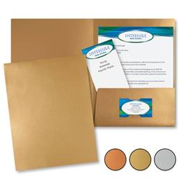 Glisten Brushed Metallic Presentation Folders